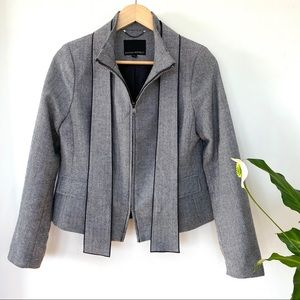 Banana Republic herringbone wool blend jacket